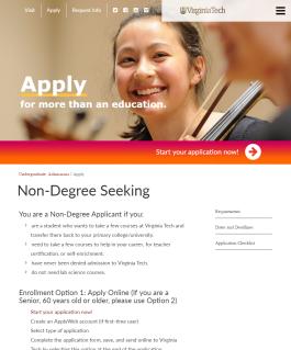 Non-Degree Seeking