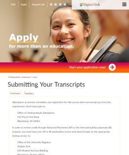 Submitting Your Transcripts