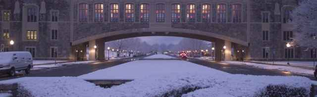 Torgersen Bridge Snow