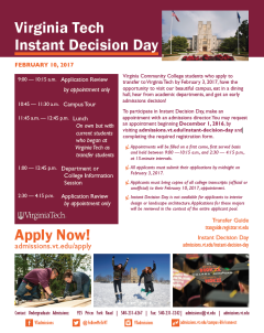 Instant Decision Day Flyer