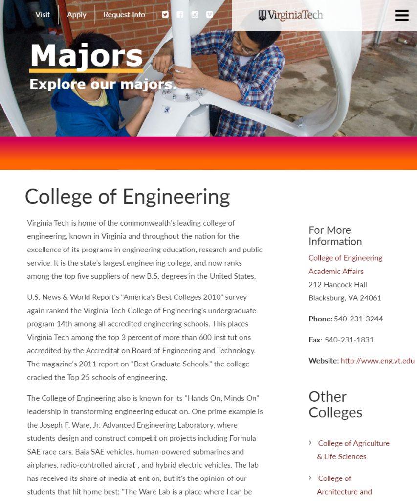 engineering college application essays
