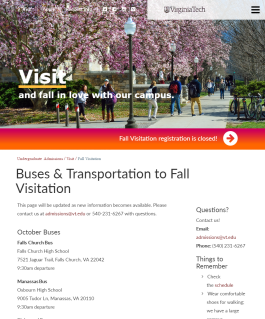 Buses & Transportation to Fall Visitation